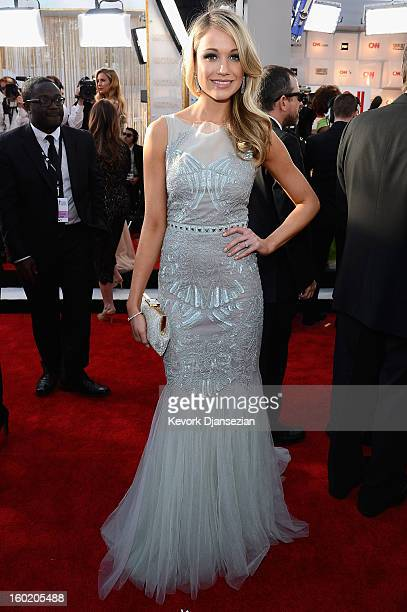 Actress Katrina Bowden arrives at the 19th Annual Screen Actors Guild Awards held at The Shrine Auditorium on January 27 2013 in Los Angeles...