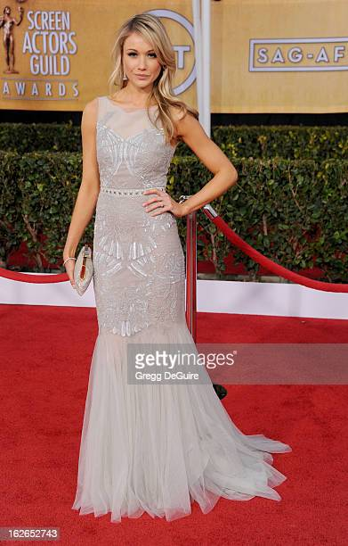 Actress Katrina Bowden arrives at the 19th Annual Screen Actors Guild Awards at The Shrine Auditorium on January 27 2013 in Los Angeles California