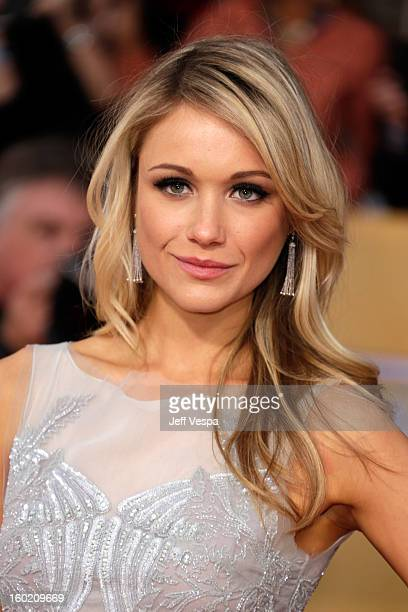 Actress Katrina Bowden arrives at the19th Annual Screen Actors Guild Awards held at The Shrine Auditorium on January 27, 2013 in Los Angeles,...