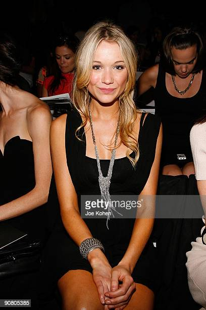 Actress Katrina Bowden attends Max Azria Spring 2010 during MercedesBenz Fashion Week at Bryant Park on September 15 2009 in New York City