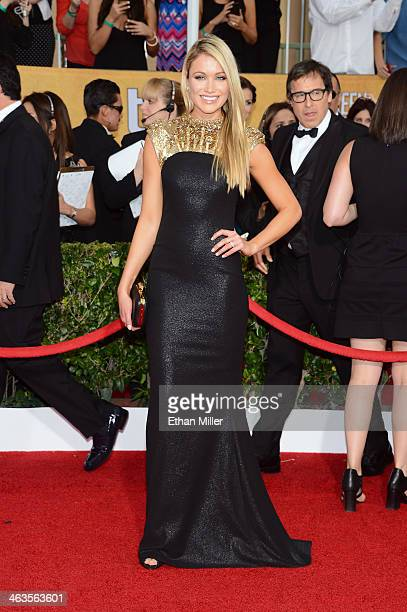 Actress Katrina Bowden attends the 20th Annual Screen Actors Guild Awards at The Shrine Auditorium on January 18 2014 in Los Angeles California