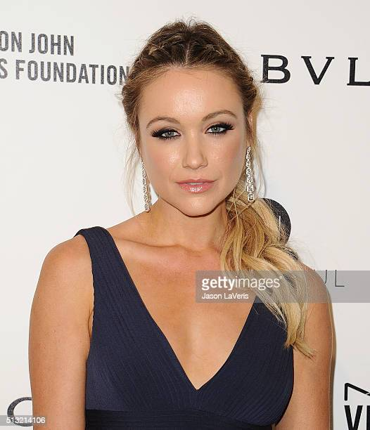 Actress Katrina Bowden attends the 24th annual Elton John AIDS Foundation's Oscar viewing party on February 28, 2016 in West Hollywood, California.