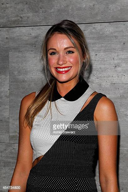Actress Katrina Bowden attends the Charlotte Ronson fashion show during MercedesBenz Fashion Week Spring 2015 at The Pavilion at Lincoln Center on...