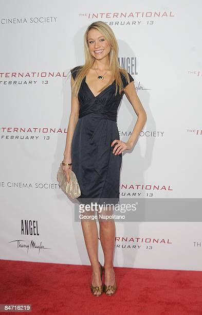 Actress Katrina Bowden attends the Cinema Society and Angel by Thierry Mugler screening of 'The International' at AMC Lincoln Square on February 9...