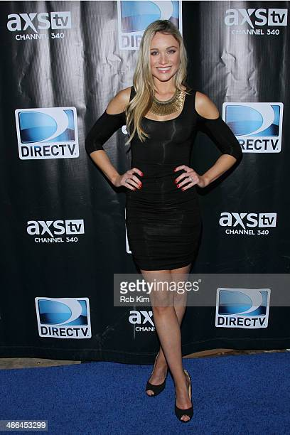 Actress Katrina Bowden attends the DirecTV Super Saturday Night at Pier 40 on February 1 2014 in New York City