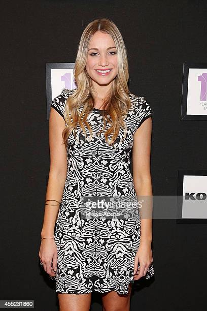 Actress Katrina Bowden attends the Elle Runway Collection By KOHL's during Style360 Spring 2015 at Metropolitan West on September 10 2014 in New York...