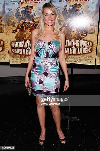 Actress Katrina Bowden poses for a photo at the New York Premiere of Where in the World is Osama Bin Laden at the AMC Lincoln Square on April 15 2008...