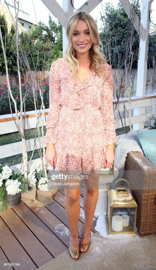 Actress Katrina Bowden visits Hallmark's 'Home & Family' at Universal Studios Hollywood on January 4, 2018 in Universal City, California.