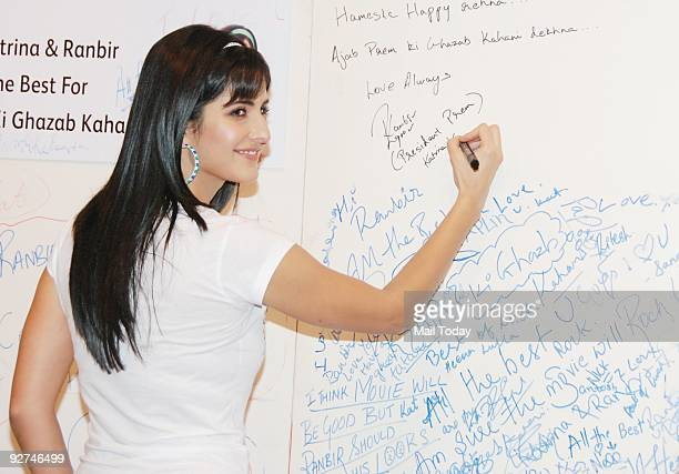 Actress Katrina Kaif at an event to promote their upcoming film 'Ajab Prem Ki Ghazab Kahani' in Mumbai on Monday November 2 2009