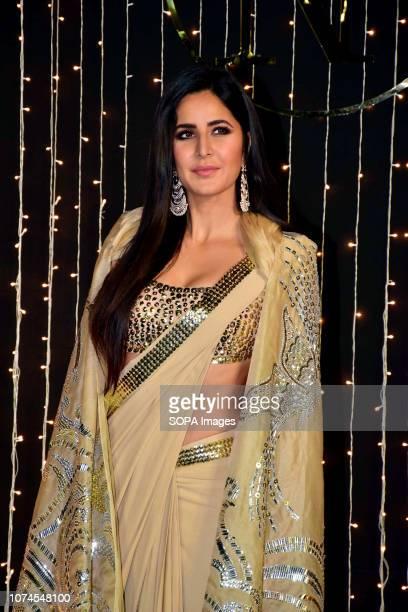 Actress Katrina Kaif seen at PriyankaNicks wedding reception at hotel Taj Lands End in MumbaiThe newlymarried couple Priyanka Chopra and Nick Jonas...