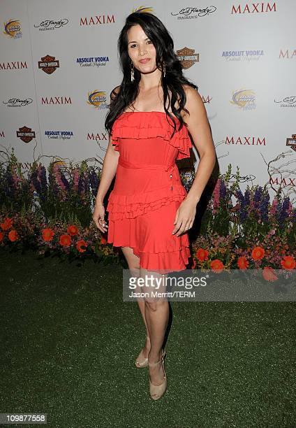 Actress Katrina Law arrives at the 11th annual Maxim Hot 100 Party with HarleyDavidson ABSOLUT VODKA Ed Hardy Fragrances and ROGAINE held at...
