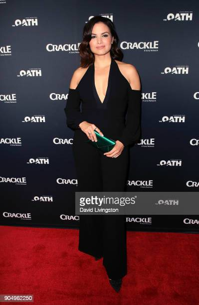Actress Katrina Law attends a photo call for Crackle's The Oath at The Langham Huntington Pasadena on January 14 2018 in Pasadena California