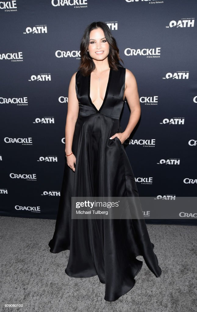 Actress Katrina Law attends the priemere of Crackle's 'The Oath' at Sony Pictures Studios on March 7, 2018 in Culver City, California.