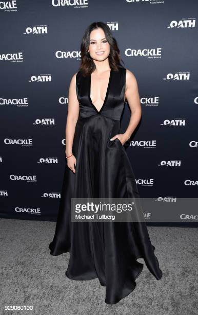 Actress Katrina Law attends the priemere of Crackle's 'The Oath' at Sony Pictures Studios on March 7 2018 in Culver City California