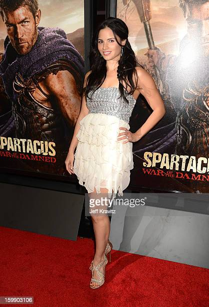 Actress Katrina Law attends the Spartacus War Of The Damned premiere at Regal Cinemas LA LIVE Stadium 14 on January 22 2013 in Los Angeles California