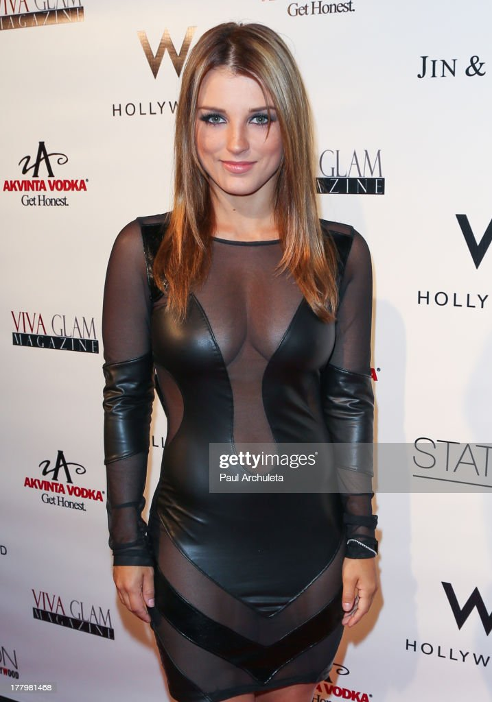 Actress Katrina Norman attends the Viva Glam Magazine Summer 2013 issue launch party at W Hollywood on August 25, 2013 in Hollywood, California.