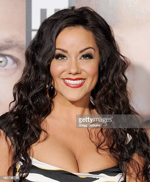 """Actress Katy Mixon arrives at the """"Identity Thief"""" Los Angeles premiere at Mann Village Theatre on February 4, 2013 in Westwood, California."""