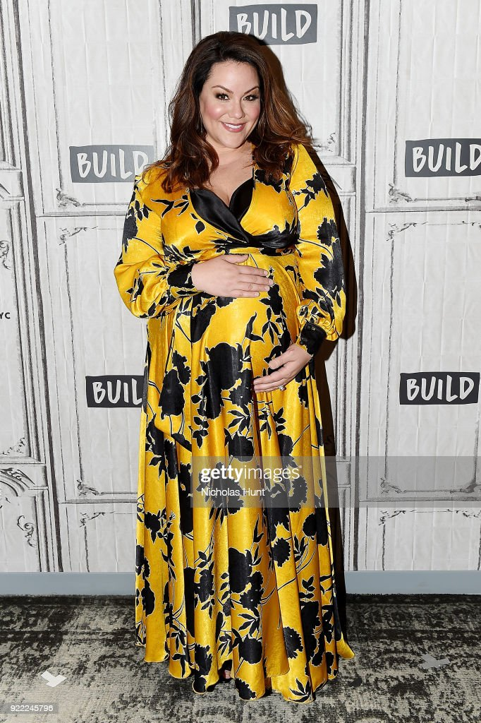 Actress Katy Mixon attends Build Series to discuss 'American Housewife' at Build Studio on February 21, 2018 in New York City.