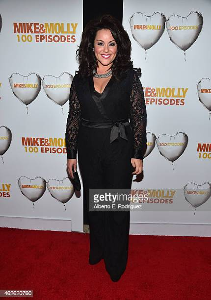 Actress Katy Mixon attends CBS's Mike Molly 100th Episode celebration at Cicada on January 31 2015 in Los Angeles California
