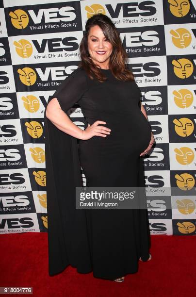 Actress Katy Mixon attends the 16th Annual VES Awards at The Beverly Hilton Hotel on February 13 2018 in Beverly Hills California