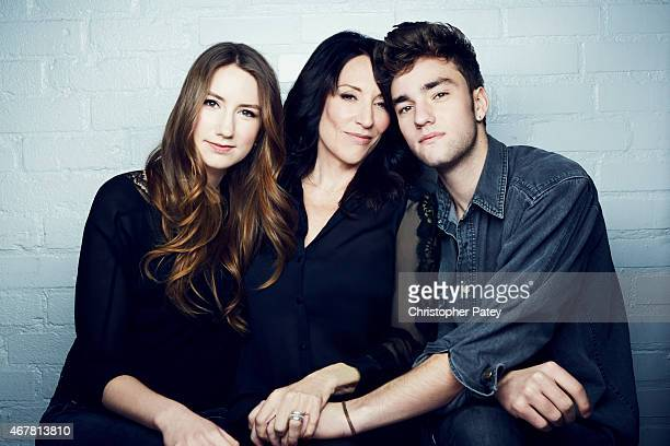 Actress Katy Sagal and daughter Sarah White and Jackson James White is photographed for The Hollywood Reporter on November 23 2014 in Los Angeles...