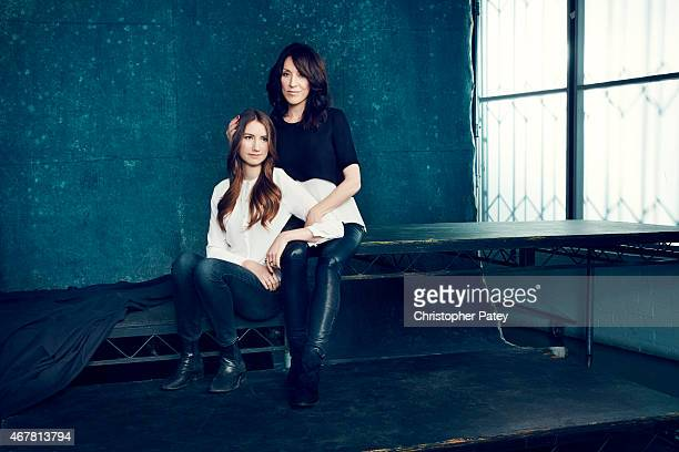 Actress Katy Sagal and daughter Sarah White is photographed for The Hollywood Reporter on November 23 2014 in Los Angeles California
