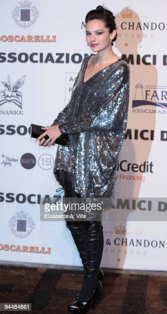 Actress Katy Saunders attends Gala Dinner In Favour Of Pietro Gamba Association at Officine Farneto on December 15 2009 in Rome Italy