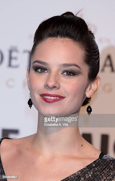 Actress Katy Saunders attends Gala Dinner In Favour Of Pietro Gamba Association at Officine Farneto on December 15, 2009 in Rome, Italy.