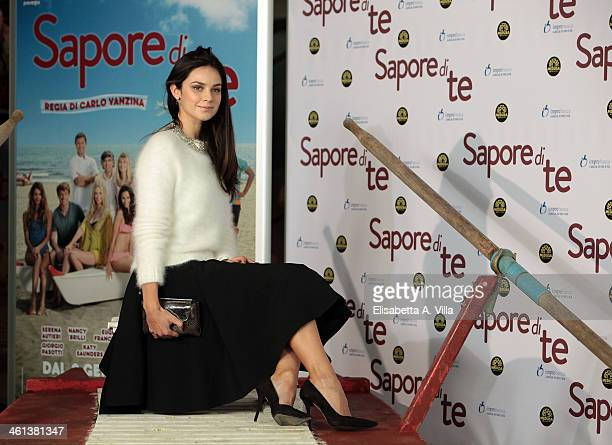 Actress Katy Saunders attends 'Sapore Di Te' photocall at Cinema Adriano on January 8 2014 in Rome Italy