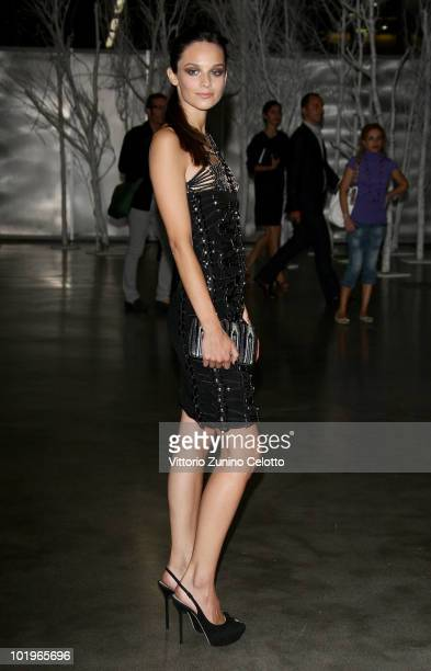 Actress Katy Saunders attends the 2010 Convivio held at Fiera Milano City on June 10 2010 in Milan Italy