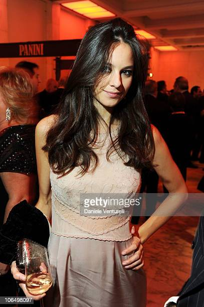 Actress Katy Saunders attends The Bulgari Express for Save The Children Cocktail Party at the Salone delle Fontane on November 3 2010 in Rome Italy