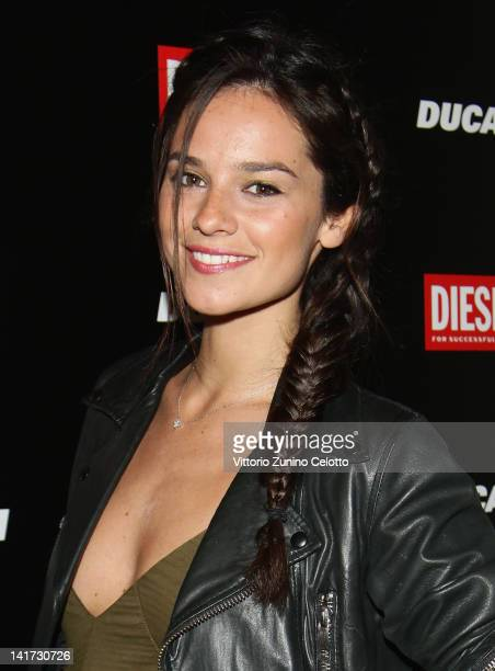 Actress Katy Saunders attends the 'Diesel Together With Ducati' cocktail party on March 22 2012 in Rome Italy