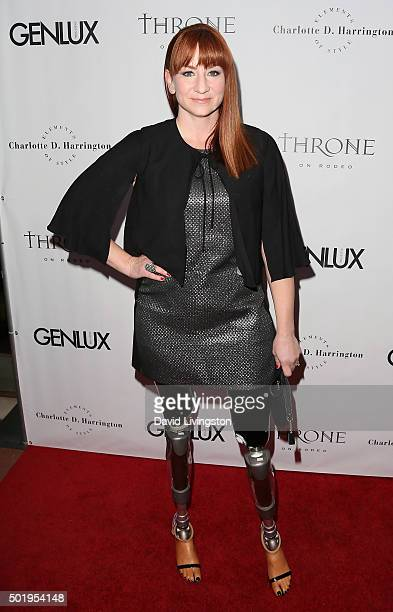 Actress Katy Sullivan attends the GENLUX Magazine Beverly Johnson cover issue event at The Rodeo Collection on December 18 2015 in Beverly Hills...
