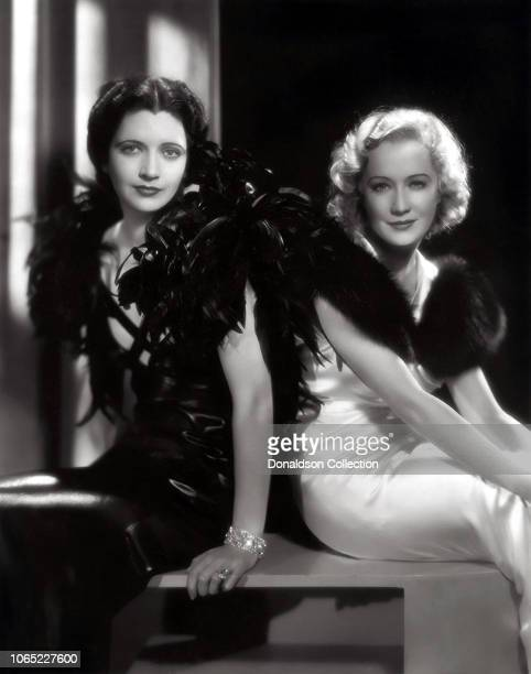 Actress Kay Francis and Miriam Hopkins in a scene from the movie Trouble in Paradise