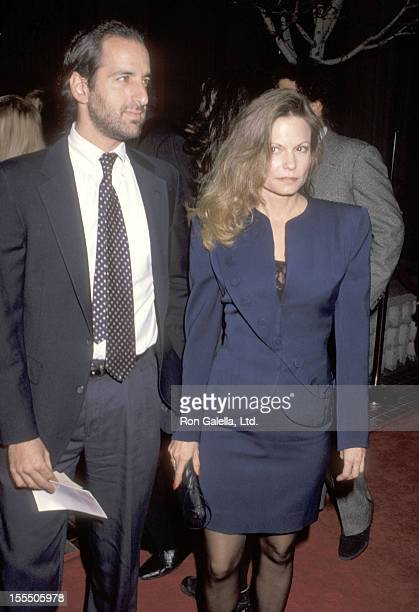 Actress Kay Lenz and guest attend the Shining Through Westwood Premiere on January 24 1992 at Avco Center Cinemas in Westwood California