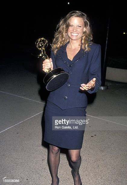 Actress Kay Lenz attends the 41st Annual Primetime Emmy Awards on September 17 1989 at Pasadena Civic Auditorium in Pasadena California