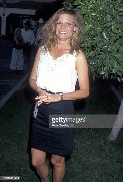 Actress Kay Lenz attends the First Annual Los Angeles ProCelebrity Rodeo Weekend Event on August 11 1989 at Los Angeles Equestrian Center in Burbank...