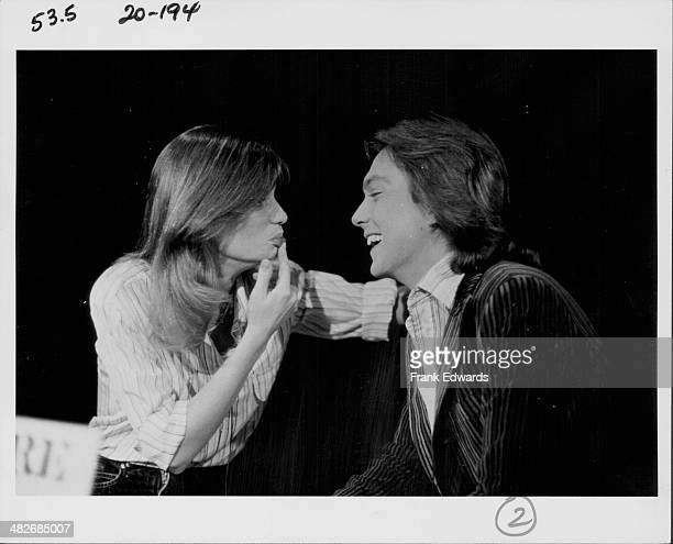 Actress Kay Lenz with her husband actor and musician David Cassidy at the Los Angeles Telethon in aid of Cystic Fibrosis California November 1977