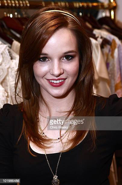 Actress Kay Panabaker attends the Foley Corinna Melrose Avenue Event With Poshglamcom at Foley Corinna on June 9 2010 in Los Angeles California
