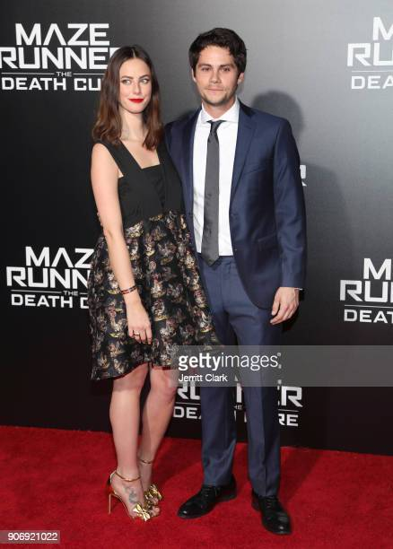 Actress Kaya Scodelario and actor Dylan O'Brien attend Fan Screening Of 20th Century Fox's 'Maze Runner The Death Cure' at AMC Century City 15...