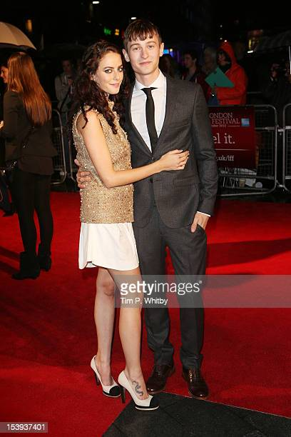Actress Kaya Scodelario and actor Elliott Tittensor attend the premiere of 'Spike Island' during the 56th BFI London Film Festival at Odeon West End...