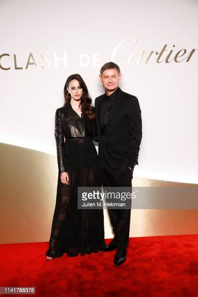 Actress Kaya Scodelario and Cartier CEO Cyrille Vigneron attend the 'Clash De Cartier' Launch Photocall At La Conciergerie In Paris on April 10 2019...