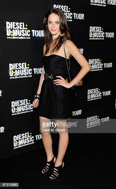 Actress Kaya Scodelario attends the DieselUMusic World Tour Party held at the University of Westminster on October 1 2009 in London England