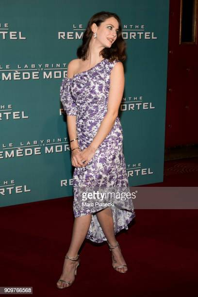 Actress Kaya Scodelario attends the 'Maze Runner The Death Cure' Premiere at Le Grand Rex on January 24 2018 in Paris France