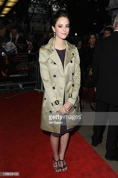 Actress Kaya Scodelario attends the 'Wuthering Heights' premiere during the 55th BFI London Film Festival at the Curzon Mayfair on October 22 2011 in...