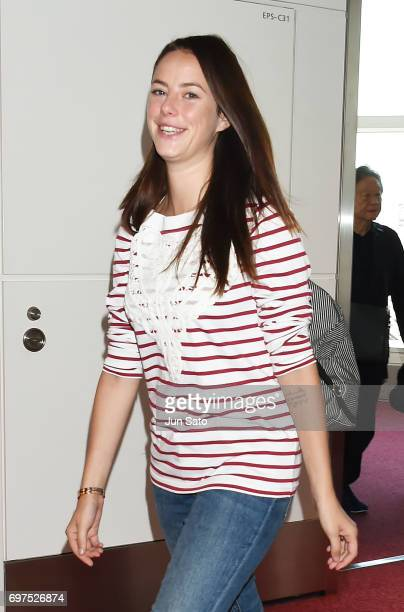 Actress Kaya Scodelario is seen upon arrival at Haneda Airport on June 19 2017 in Tokyo Japan