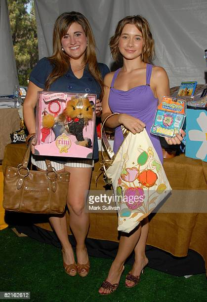 Actress Kaycee Stroh and actress Olesya Rulin attend the Mattel Celebrity Retreat produced by Backstage Creations at Teen Choice 2008 on August 2...