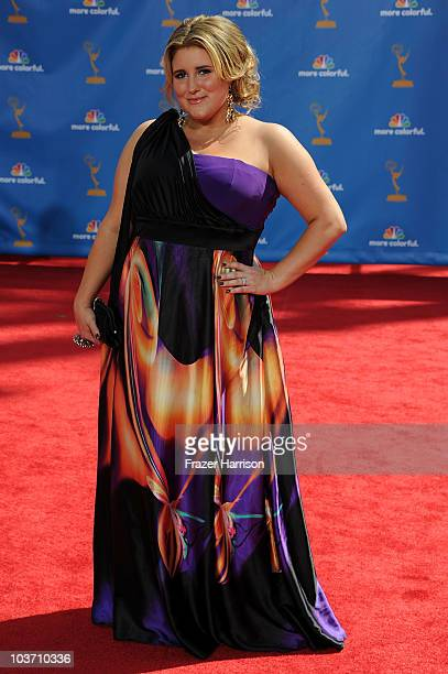 Actress KayCee Stroh arrives at the 62nd Annual Primetime Emmy Awards held at the Nokia Theatre LA Live on August 29 2010 in Los Angeles California