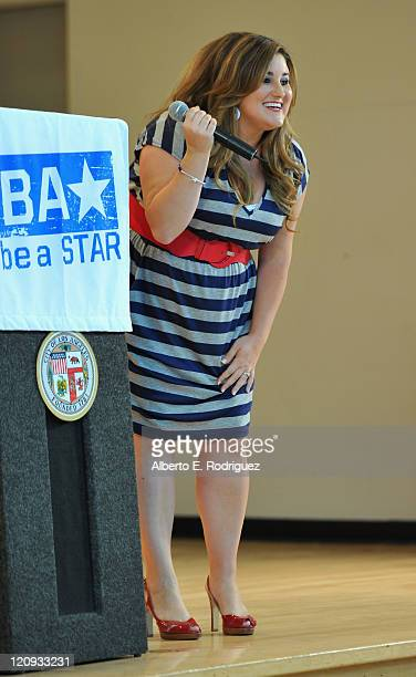Actress Kaycee Stroh attends the WWE and The Creative Coallition's Rally to support the be a star AntiBullying Alliance on August 12 2011 in Los...