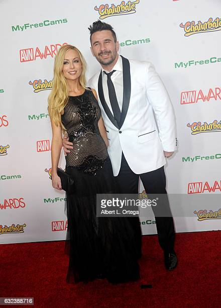 Actress Kayden Kross and actor Manuel Ferrara arrive at the 2017 Adult Video News Awards held at the Hard Rock Hotel Casino on January 21 2017 in Las...